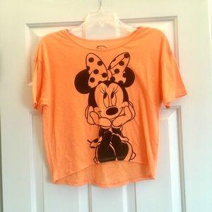 XS Minnie Mouse orange crop top